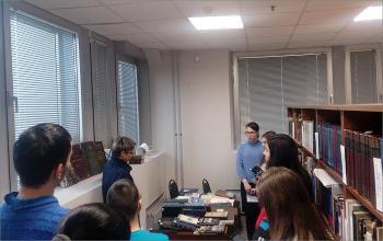 Занятия для студентов библиотечного техникума