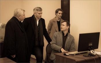 Посещение РГАВМФ гостями из Москвы