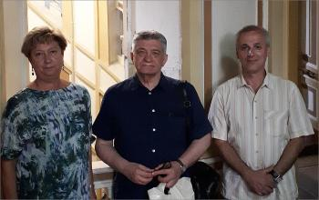 Визит в РГАВМФ А.Н.Сокурова и делегации архивистов СПб