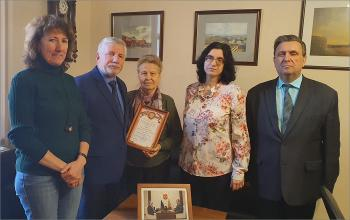 Проводы старейшего сотрудника Л.В.Агафоновой