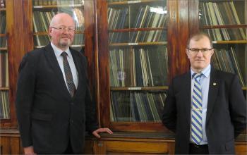 Гидрограф и географ - гости архива
