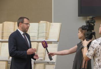 Могилевский К.И. дает интервью в Областной библиотеке имени Н.К. Крупской Оренбург 13-03-2020